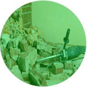 Derribar las partes de un edificio